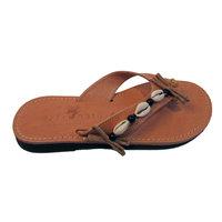 Ibiza slippers met schelpjes