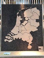 Landkaart van kurk