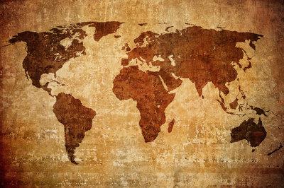 Wereldkaart 50x40