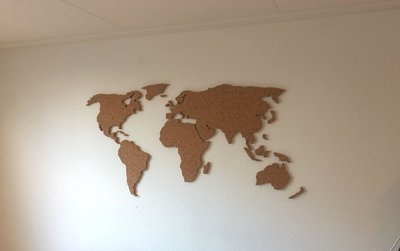 Wereldkaart-kurk