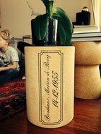 Wijn kruk met tekst