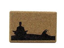 Yoga blok met afbeelding
